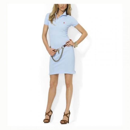 Polo Ralph Lauren Women's Cotton Dress in Light Blue