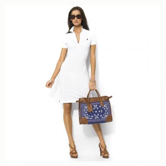 Women's Polo Ralph Lauren Cotton Dress in White
