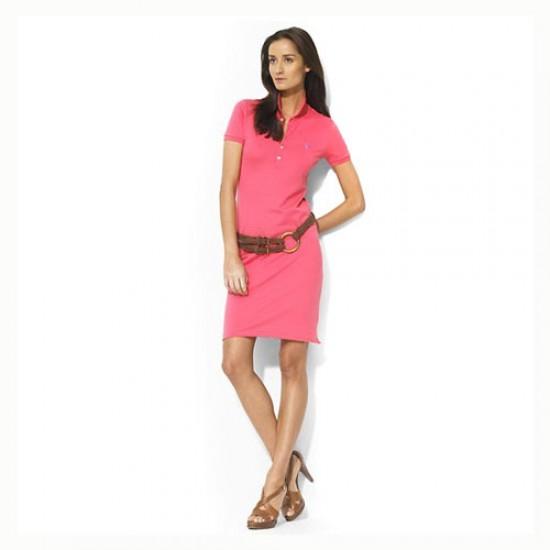 Women's Polo Ralph Lauren Cotton Dress in Pink