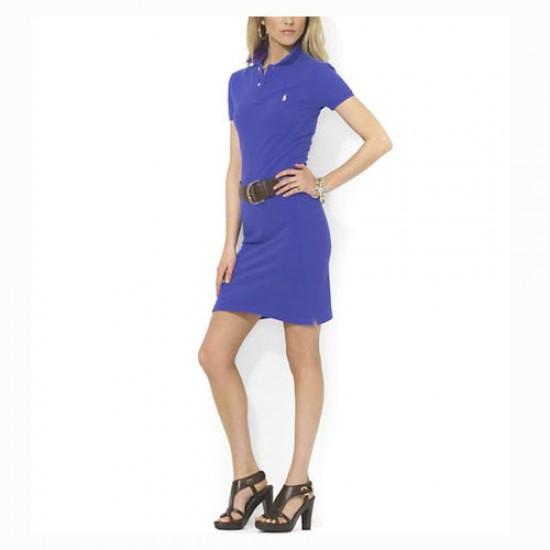 Polo Ralph Lauren Women's Cotton Dress in Electric Blue