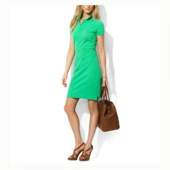 Polo Ralph Lauren Women's Cotton Dress in Green