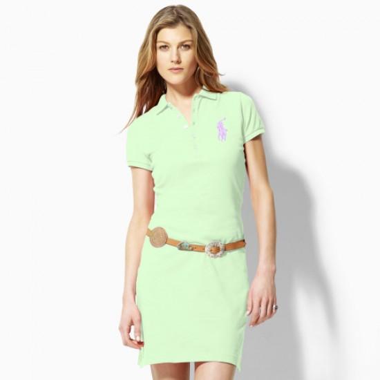 Polo Ralph Lauren Big Pony Polo Dress light green For Women