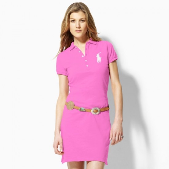 Polo Ralph Lauren Big Pony Polo Dress in Pink