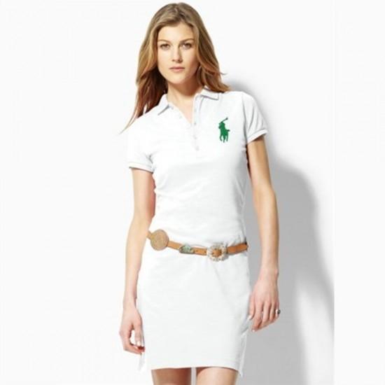Polo Ralph Lauren Big Pony Polo Dress White For Women