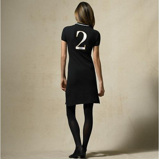 Polo Ralph Lauren Women's Cotton Dress in Black
