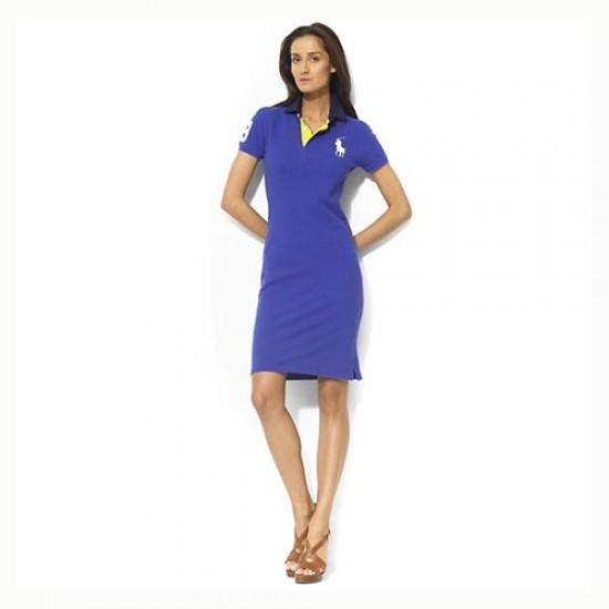 Polo Ralph Lauren Women's Cotton Dress in Blue