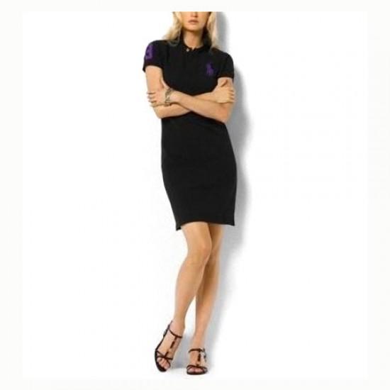 Ralph Lauren polo Women's Cotton Dress Black discount