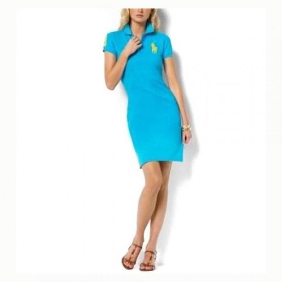 Polo Ralph Lauren Cotton Dress Blue for women