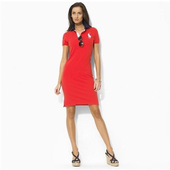 Ralph lauren cotton short sleeve polo slim skirt dress