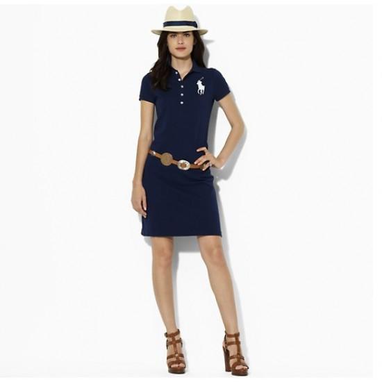 Hot ralph lauren cotton short sleeve polo slim skirt dress