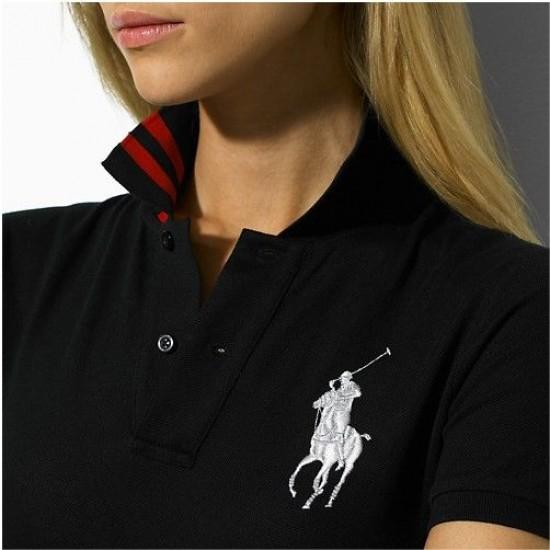 Ralph lauren cotton big pony short sleeve polo slim skirt dress