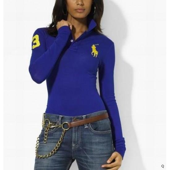 Woemn's Polo Ralph Lauren Long Sleeve 3 Blue