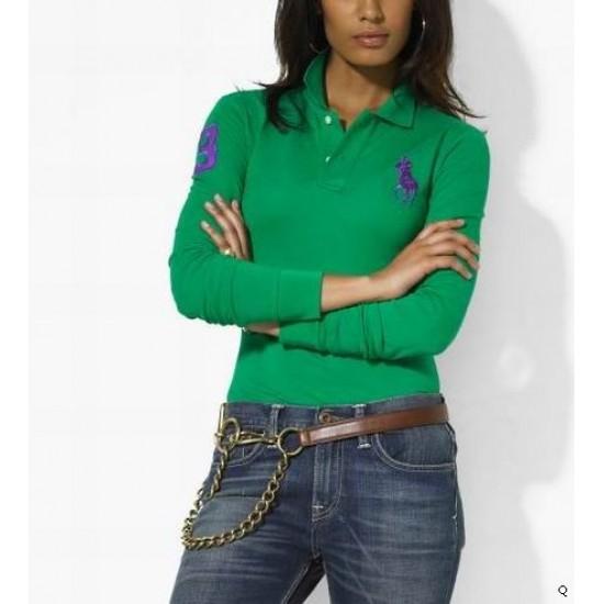 Woemn's Polo Ralph Lauren Long Sleeve 3 Green