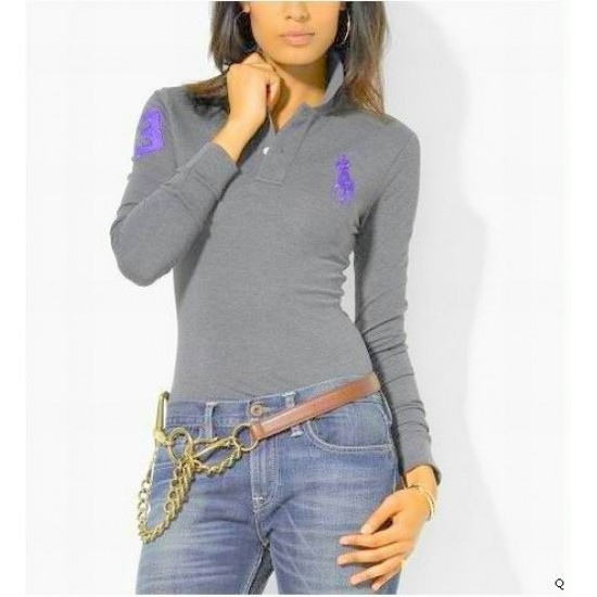 Woemn's Polo Ralph Lauren Long Sleeve 3 Grey