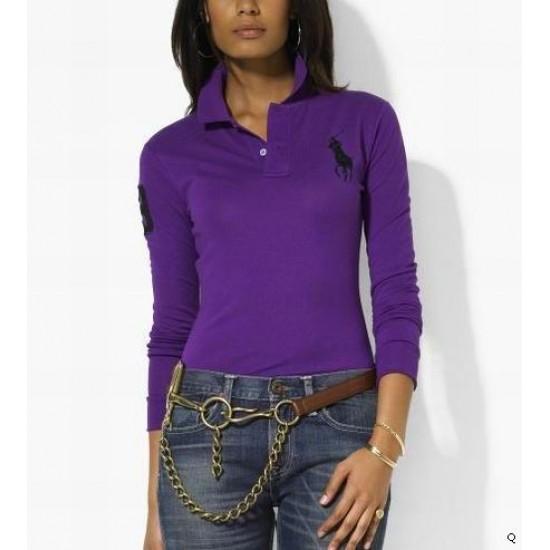 Woemn's Polo Ralph Lauren Long Sleeve 3 Purple