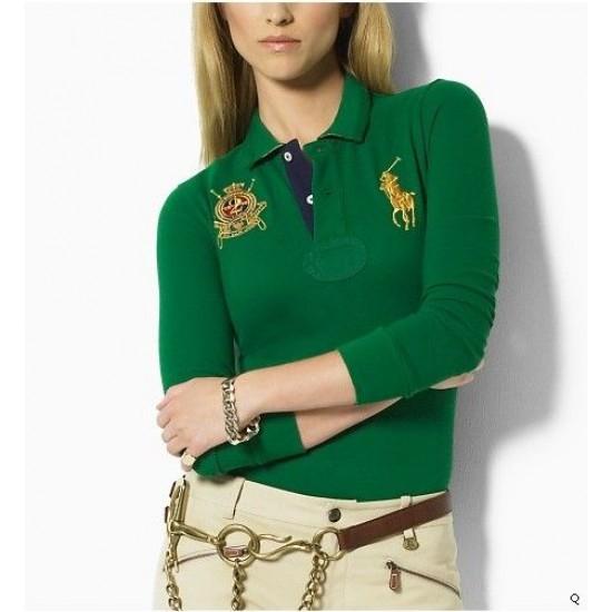 Woemn's Polo Ralph Lauren Long Sleeve Green