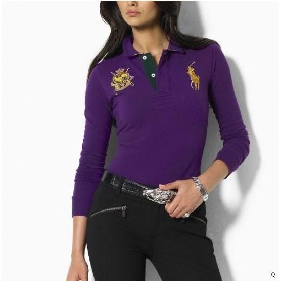 Woemn's Polo Ralph Lauren Long Sleeve Purple