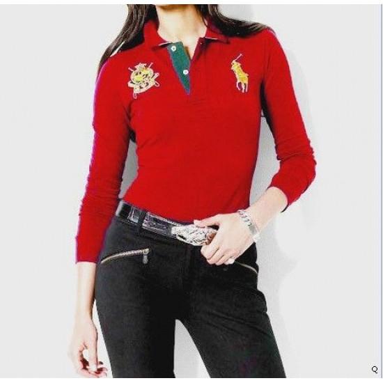 Woemn's Polo Ralph Lauren Long Sleeve Red