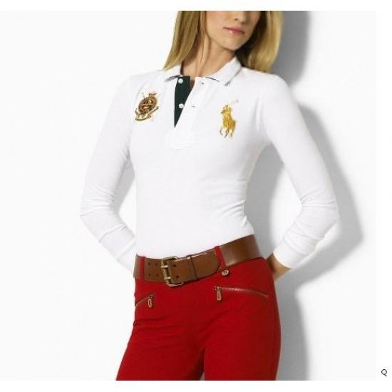 Woemn's Polo Ralph Lauren Long Sleeve White
