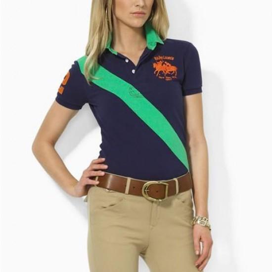 Ralph Lauren Polo Navy Green Stretch Match Sash